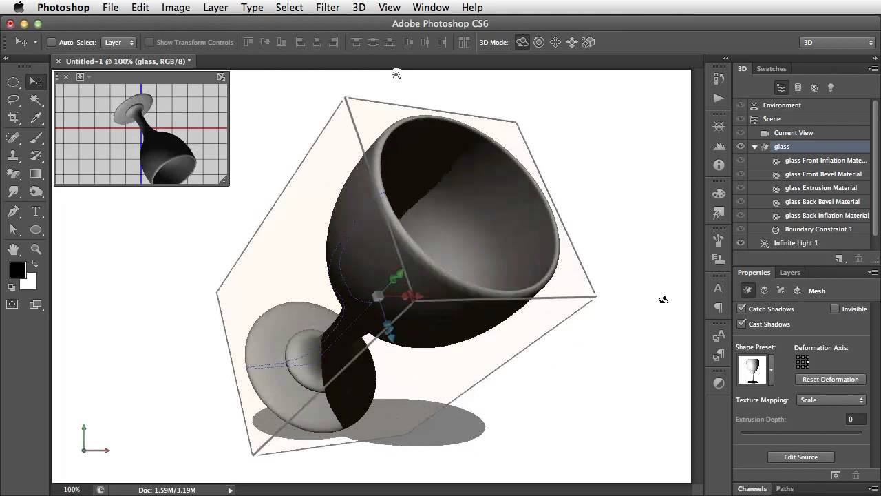 Create Lathed 3d Objects In Photoshop Youtube