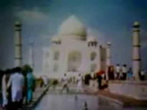 The Taj Mahal is a white marble mausoleum ,Agra,India