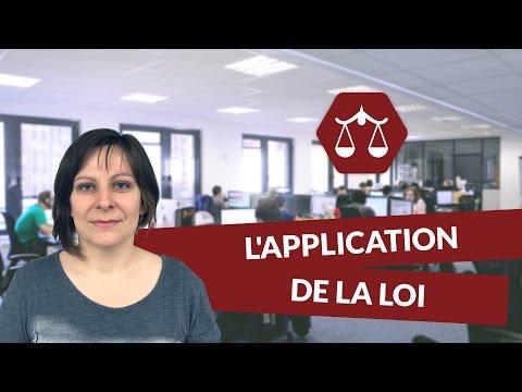 L'application de la loi - Droit - digiSchool