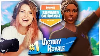 NO AMMO AND A DREAM! - SUMMER SKIRMISH WIN w/ Ghost Bizzle (Fortnite: Battle Royale) | KittyPlays