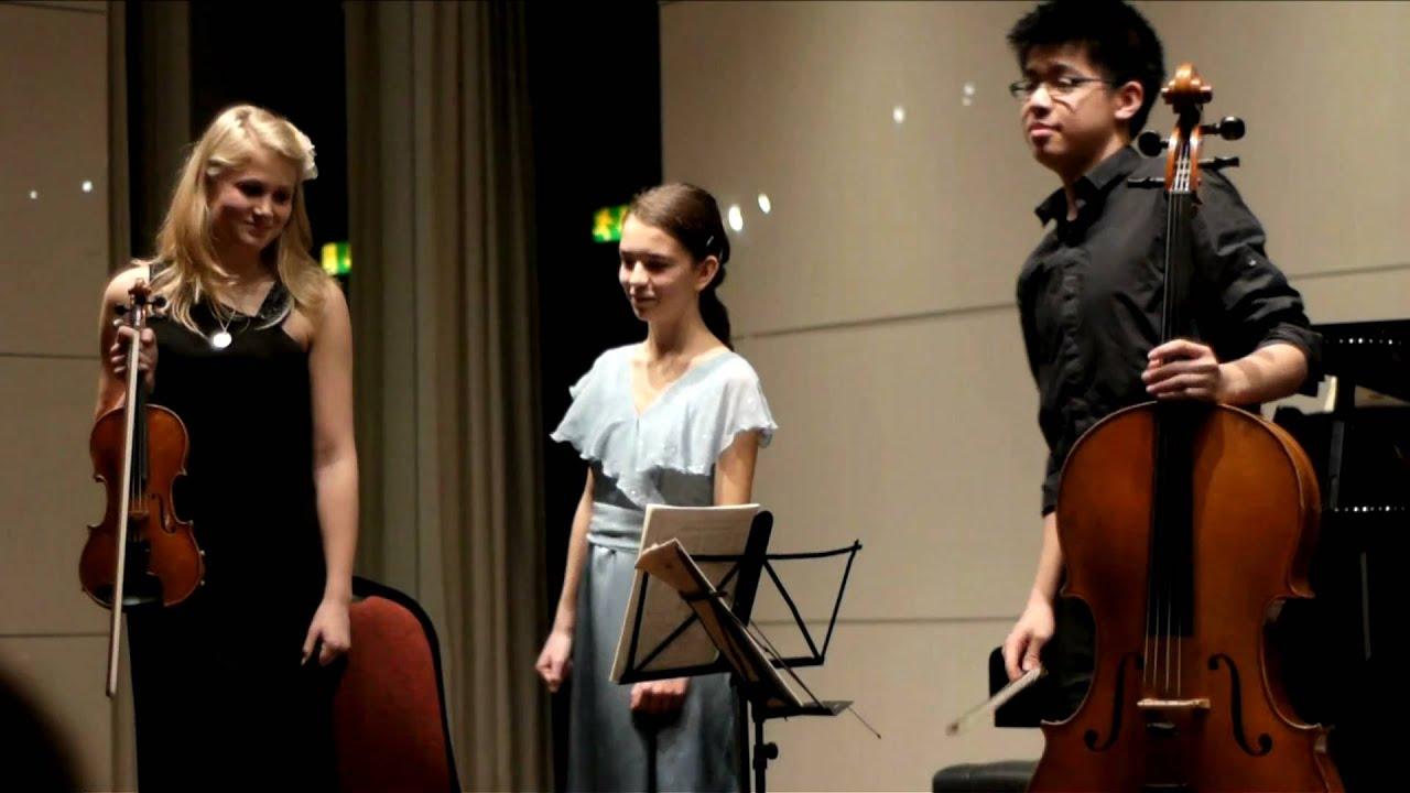 Schubert Piano Trio No. 2 in E flat Major, Op 100 in high ...