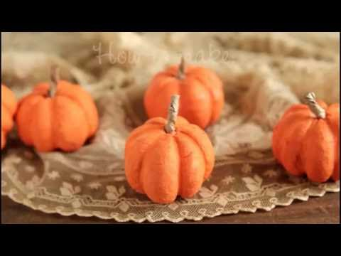 How to Make Spun Cotton Pumpkins!  DIY Fall Craft Tutorial