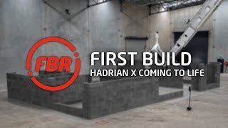 FBR's Hadrian X Builds First Full Home Structure