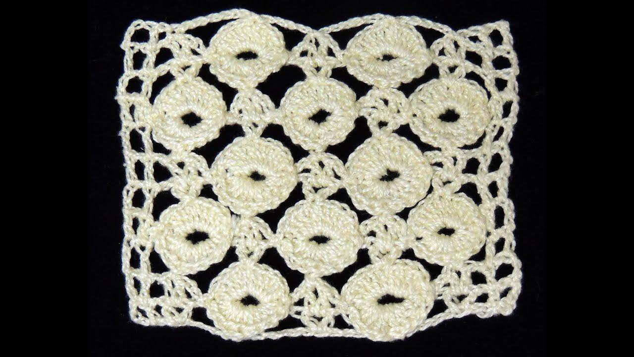 Crochet : Punto Fantasia en Circulos. Parte 1 de 2 - YouTube
