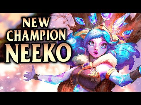 New Champion Neeko Mid! Chilling Damage And Build! Winter Wonderland Neeko - League Of Legends S9