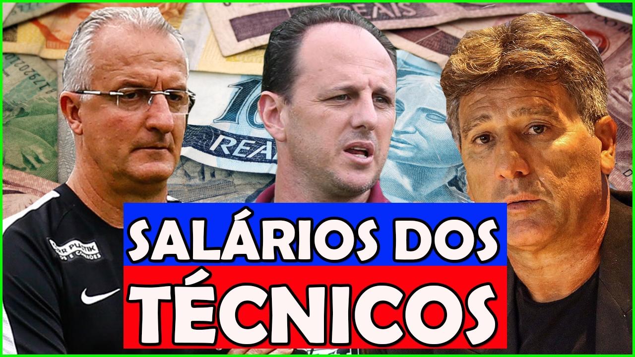 Resultado de imagem para maiores salarios de treinadores do futebol brasileiro