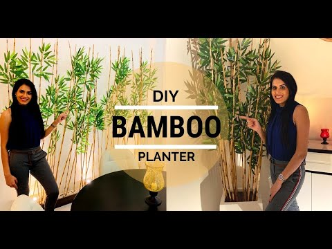 how-to-make-artificial-bamboo-planter-&-divider-for-home/office-decor-|-hindi-with-english-subtitles