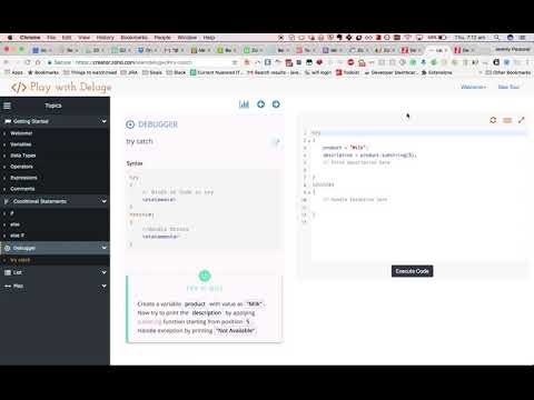 How to learn Deluge script to write custom functions for Zoho CRM:Creator  Part 1
