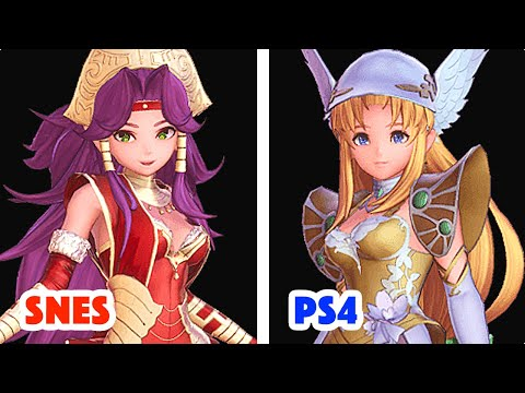 SNES vs. PS4 & SWITCH 聖剣伝説3 TRIALS OF MANA ALL CHARACTERS PROLOGUES COMPARISON ENGLISH SUB