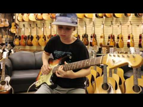 12-Year-Old JADEN LEHMAN playing a 1964 Fender Stratocaster