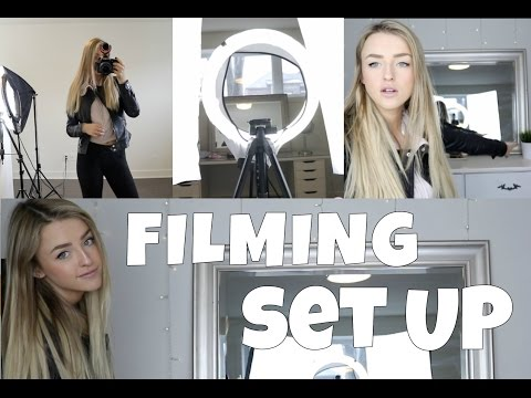 Filming set-up + Equipment / Équipement pour Youtube    Alicia Moffet