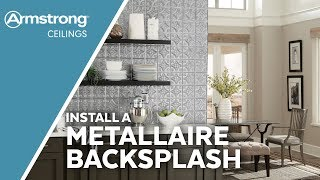 Installing an Armstrong Metallaire Backsplash | Armstrong Ceilings for the Home