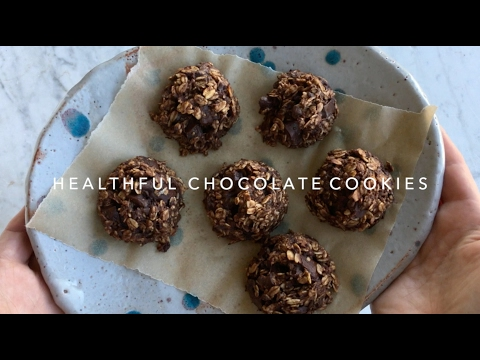 Healthful Double Chocolate Cookies (VEGAN / GF)