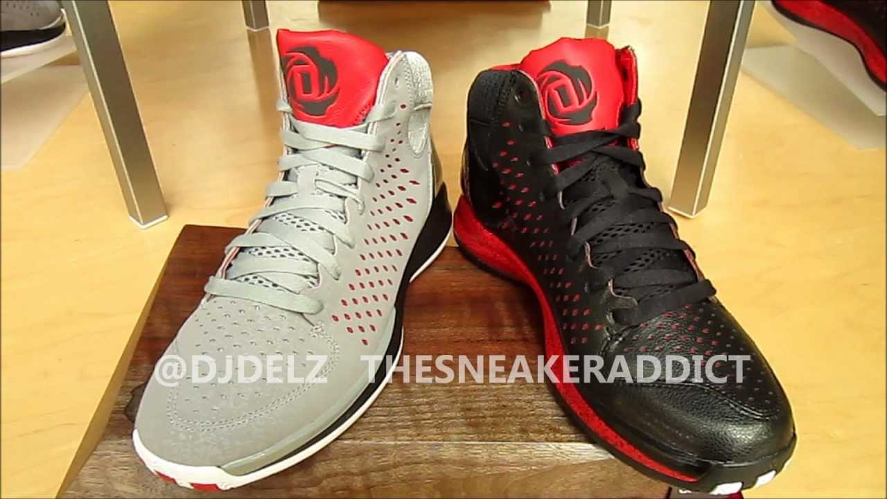 timeless design 35e7a fcc88 adidas Derrick Rose 3 Home VS Away Sneakers With DjDelz PickOne - YouTube