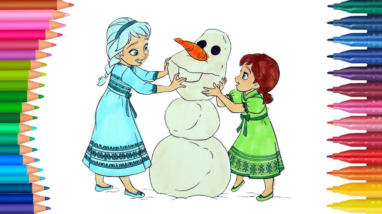 Elsa Und Anna Die Eiskönigin Deutsch Ausmalbilder Färbung Kleine Hände Malbuch