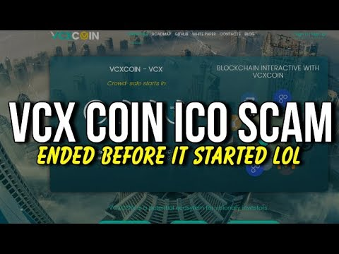 Vcxcoin Visacoin ICO Scam Review! It Ended Before It Started (WARNING!!!!)