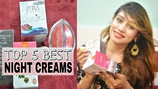 Top 5 Best Night Creams In India For All Skin Types | Night Cream For Indian And Asian Skin Types
