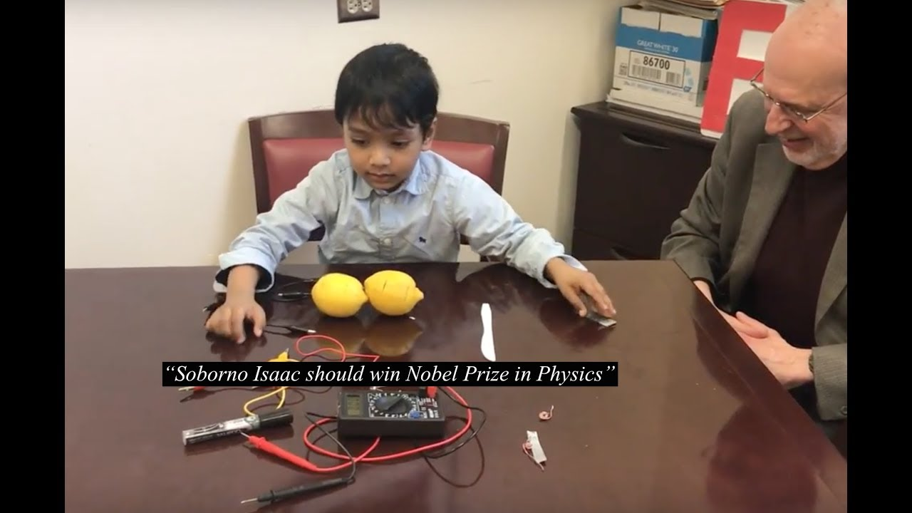 5 year-old Soborno Isaac should win Nobel Prize in Physics