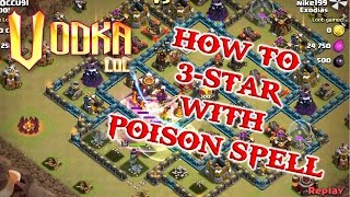 Clash of Clans - New Update! Poison Spell + 3 star gameplay
