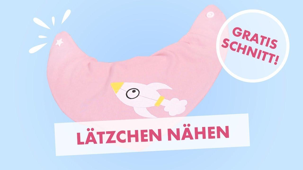 DIY tutorial: Nähanleitung schnelles Babylätzchen mit Druckknopf ...