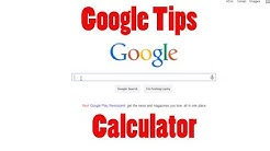 Use Google as a Calculator and Unit Converter - Google Tips