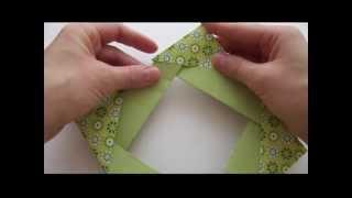 Фоторамка из бумаги   Поделки оригами   Origami