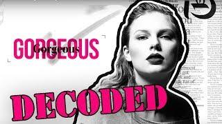 Taylor Swift Gorgeous Analysis | Lyrics Explained