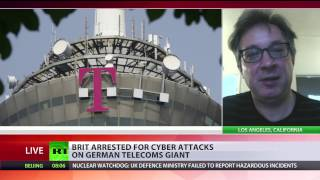 Not Russian hackers: Brit arrested for cyberattack on Germany blamed on Moscow(A 29yo UK national has been detained in London on suspicion of carrying out a cyber-attack last year that left 1 million Deutsche Telekom customers without ..., 2017-02-24T01:24:07.000Z)