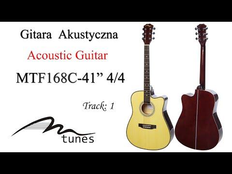 """Acoustic guitar 4/4 41"""" M-tunes MTF168C video"""