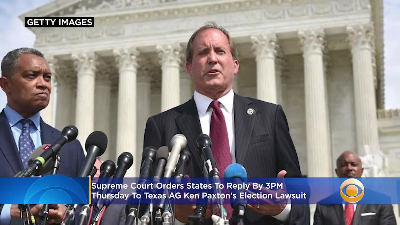Supreme Court Orders Reply To Texas AG Ken Paxton's Election Lawsuit By 3PM Thursday