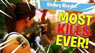 My Highest Kill Game Ever! (Personal Record) Fortnite Battle Royale