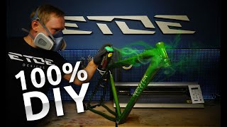 paint a bike with spray paint and spray cans