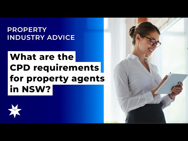 What are the CPD requirements for property agents in NSW?