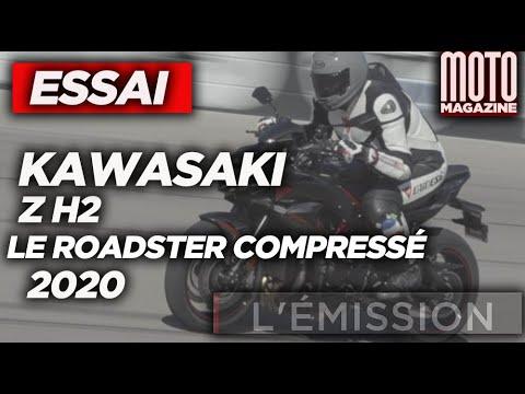 KAWASAKI Z H2 2020 - Tour de manège à moto !