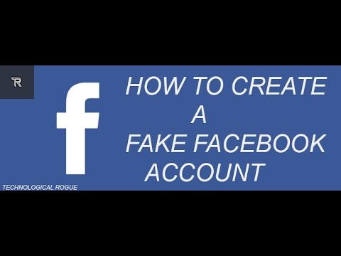 How to Create a fake Facebook Account  Latest!!!! (2017)