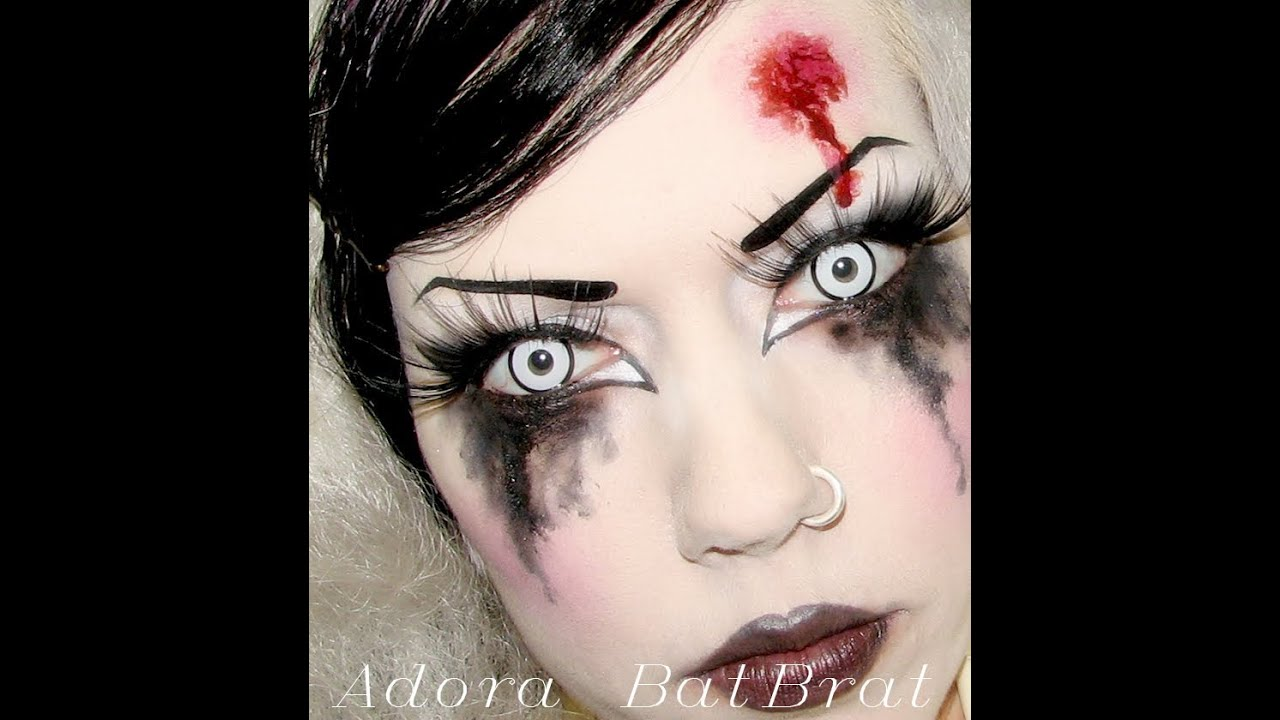 adora batbrat goth make up tutorial copycats dead doll make up youtube. Black Bedroom Furniture Sets. Home Design Ideas