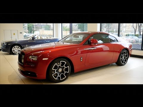 2018 cherry red rolls royce wraith black badge youtube. Black Bedroom Furniture Sets. Home Design Ideas