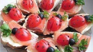 Как #украсить стол на #Новый Год. Оформление салатов и #закусок ч.1.