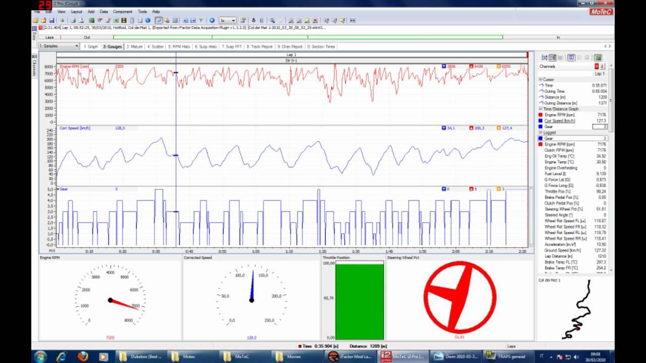 Rfactor - Data Data Acquisition Plugin + MoTec i2 Pro