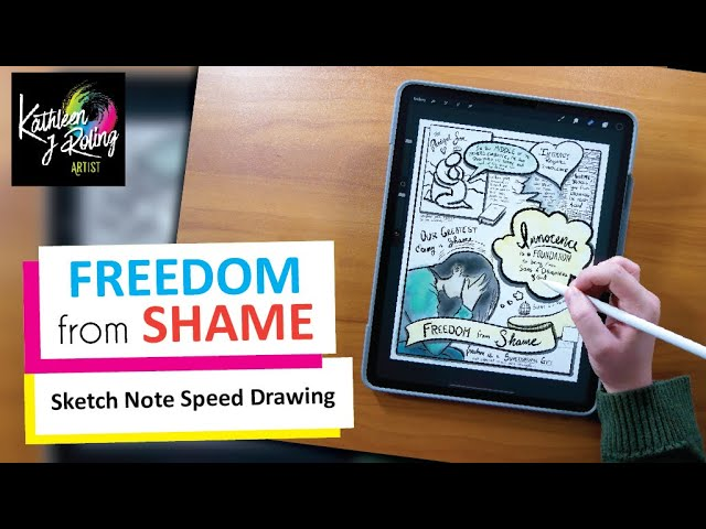 Freedom from Shame - Sketch Note Ministry Speed Drawing