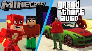 Minecraft: How to make a portal to Grand theft auto (Minecraft Roleplay