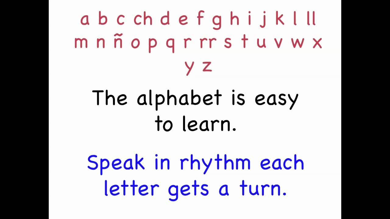 The Spanish Alphabet Song