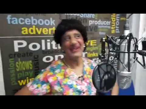 Andy Francesco as Auntie Thekla Being Interviewed on Cyprus Radio