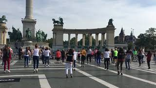 Jerusalema Flashmob Budapest Hősök tere 2020. október 3.