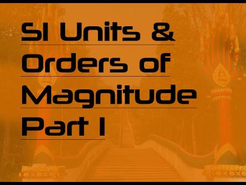 SI Units & Orders of Magnitude (for ESL/EFL students) - Part I