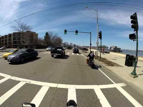 Supermoto ride through Quincy MA