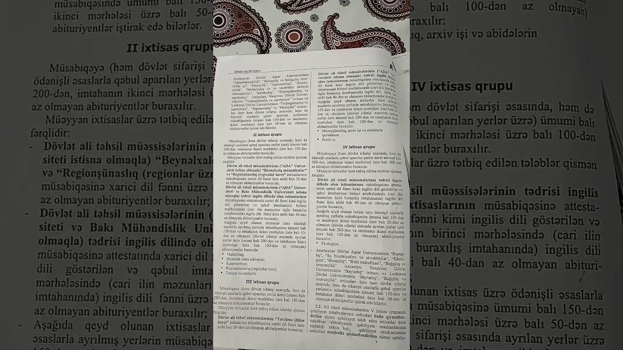 Abituriyent jurnalının 4 cür buraxılışı ixtisas seçimi