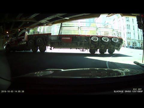 Corey Calhoun - Truck Driver Misjudged The Height Of This Bridge