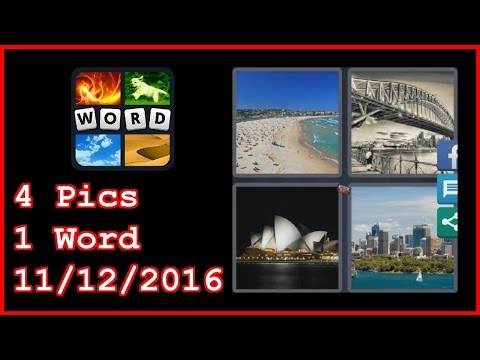 4 Pics 1 Word - Daily Puzzle - Australia 2016 - 11/12/2016 - 11/12/2016 - November 12, 2016 - Answer