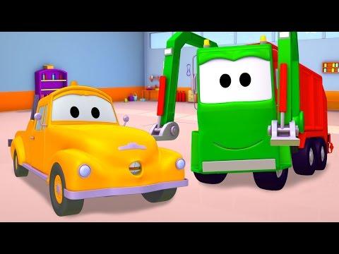 ambulans çöp kamyonu buldozer ve çekici tom  araba ve kamyon inşaat çizgi filmi çocuklar için